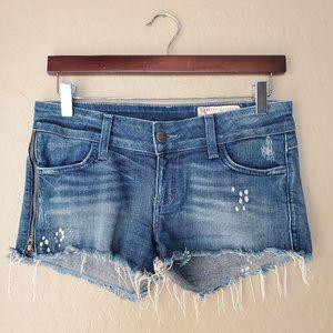 Siwy Alexa Distressed Cut Off Side Zipper Shorts